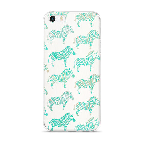 Zebra Collection – Mint Palette  •  iPhone 5/5s/Se, 6/6s, 6/6s Plus Case