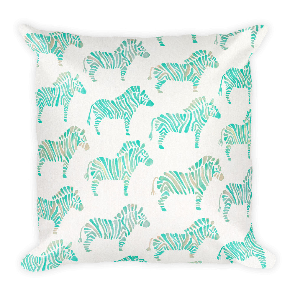 Zebra Collection – Mint Palette  •  Square Pillow