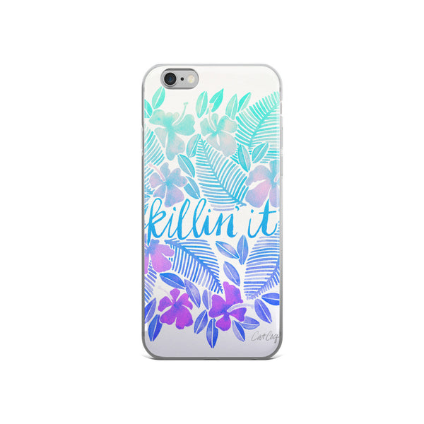 Killin' It – Turquoise Ombré  •  iPhone 5/5s/Se, 6/6s, 6/6s Plus Case