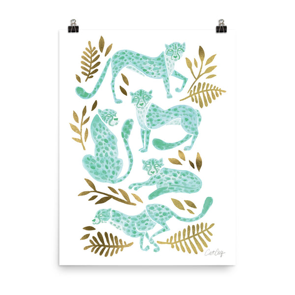 Cheetah Collection - Mint Gold