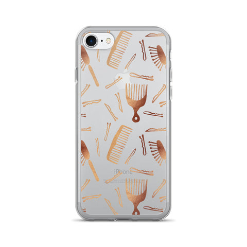 Good Hair Day – Rose Gold Palette • iPhone 7/7 Plus Case (Transparent)