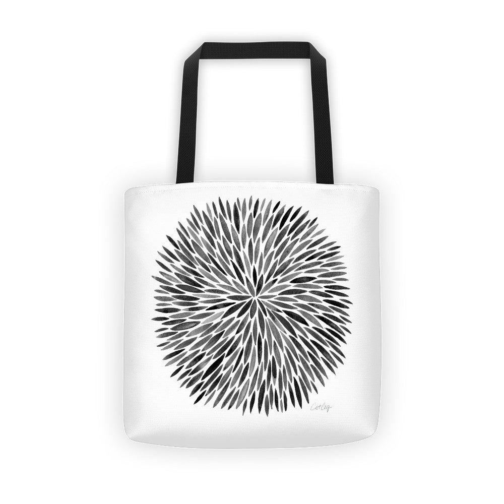 Watercolor Burst – Black Palette  •  Tote Bag