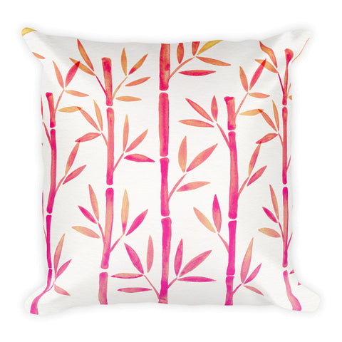 Bamboo – Pink Palette  •  Square Pillow