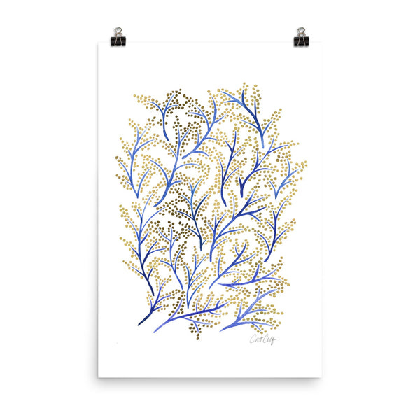 Branches - Navy & Gold