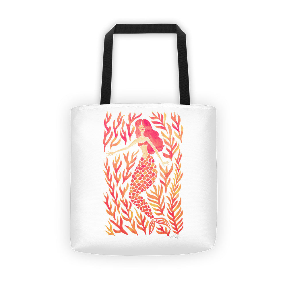 Kelp Forest Mermaid – Peach Palette • Tote Bag