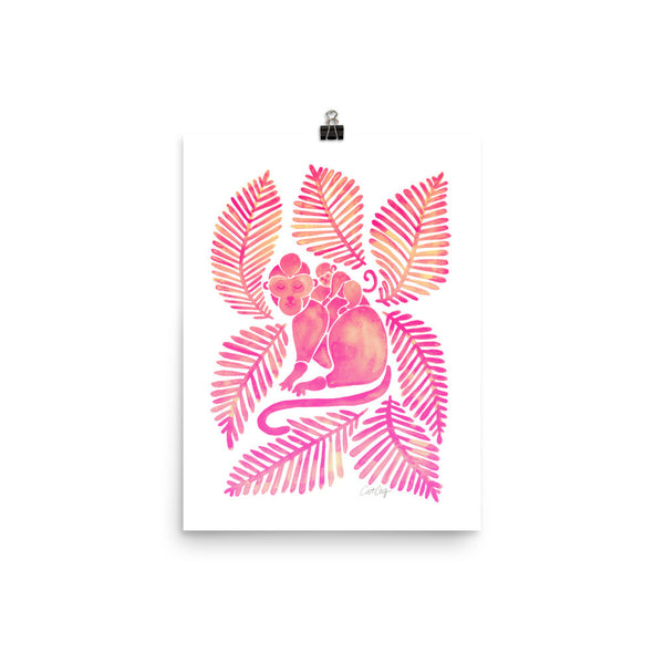 Monkeys – Pink Palette • Art Print