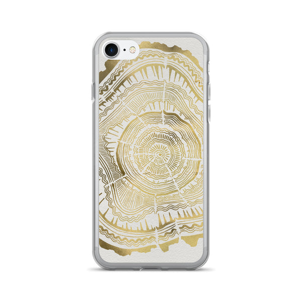Tree Rings – Gold Palette • iPhone 7/7 Plus Case