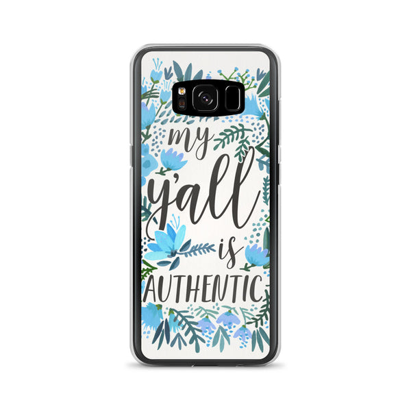 My Y'all is Authentic – Blue Palette • Samsung Case