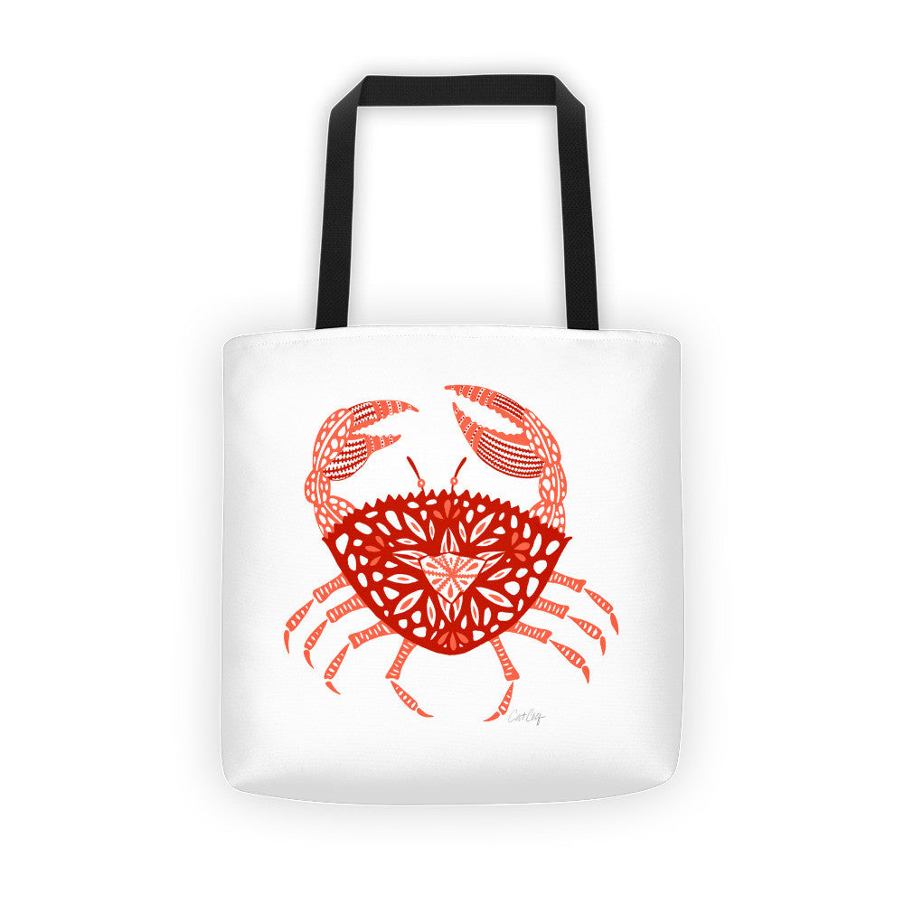Crab – Red Palette  •  Tote Bag