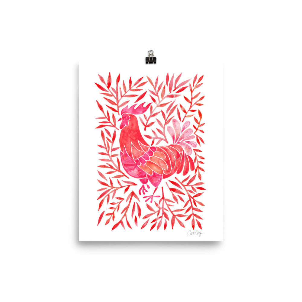Le Coq – Red Palette • Art Print