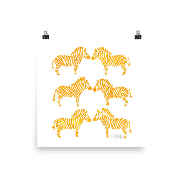 Zebra Collection – Yellow Palette • Art Print