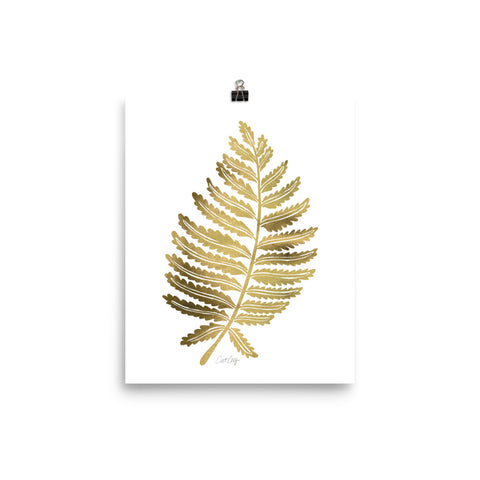 Fern Leaf – Gold Palette • Art Print