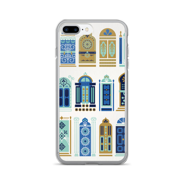 Moroccan Doors – Tan & Blue Palette • iPhone 7/7 Plus Case