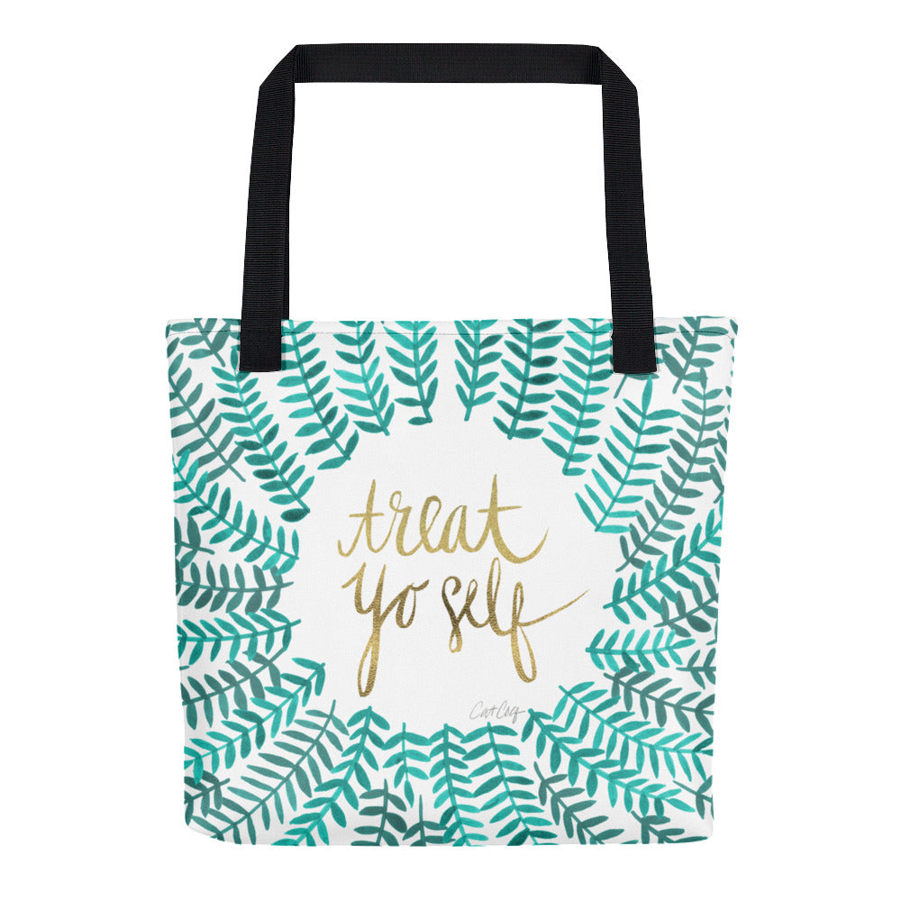 Treat Yo Self – Turquoise Palette • Tote Bag