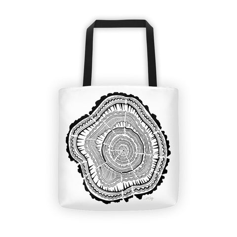 Tree Rings – Black Palette • Tote Bag