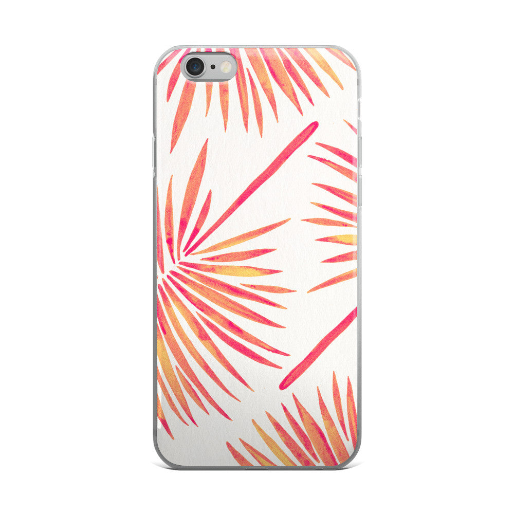 Fan Palm – Pink Palette  •  iPhone 5/5s/Se, 6/6s, 6/6s Plus Case