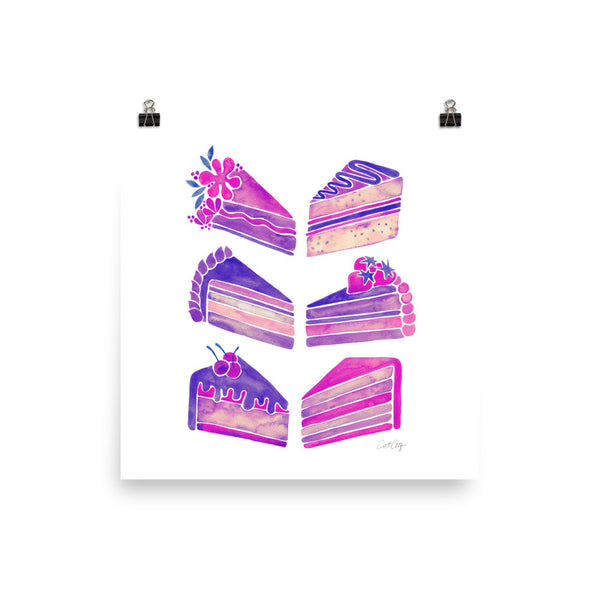Cake Slices – Unicorn Palette • Art Print