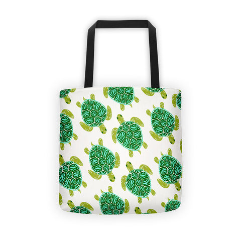 Sea Turtle – Green Palette  •  Tote Bag