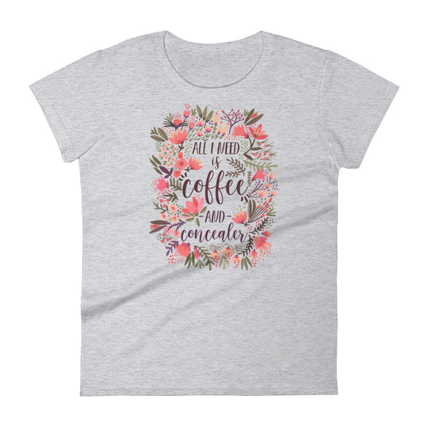 Coffee & Concealer – Vintage Palette • Women's short sleeve t-shirt
