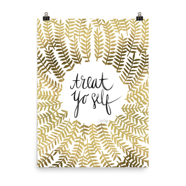 Treat Yo Self – Gold Palette • Art Print