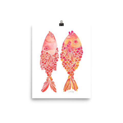Indonesian Fish – Coral Palette • Art Print