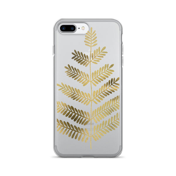 Leaflets – Gold Palette • iPhone 7/7 Plus Case (Transparent)