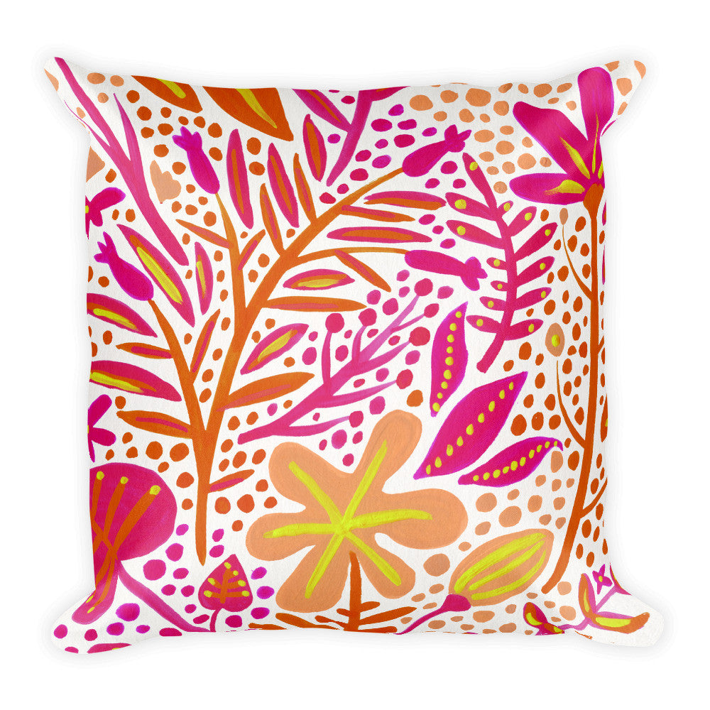 Garden – Melon Palette  •  Square Pillow