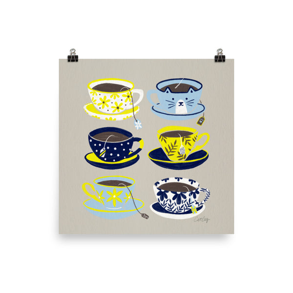 Tea Time - Yellow and Blue
