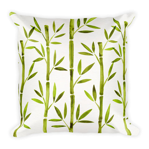 Bamboo – Lime Palette  •  Square Pillow