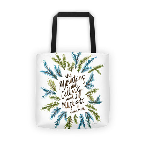 Mountains are Calling – Green Palette • Tote Bag