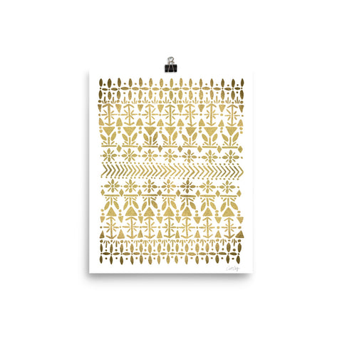 Norwegian Pattern – Gold Palette • Art Print