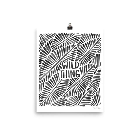 Wild Thing – Black Palette • Art Print