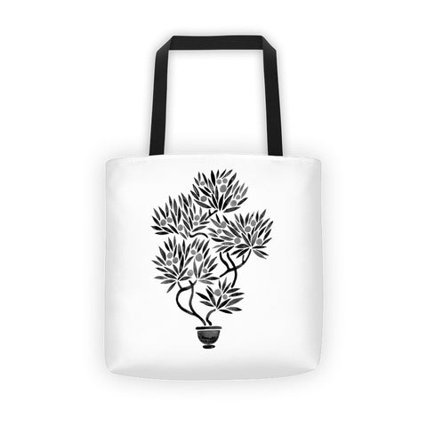 Bonsai Fruit Tree – Black Palette  •  Tote Bag