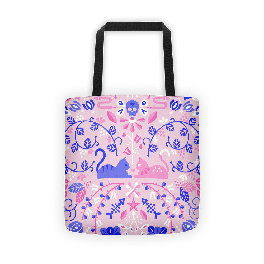 Kitten Lovers – Pink & Indigo Palette  •  Tote Bag