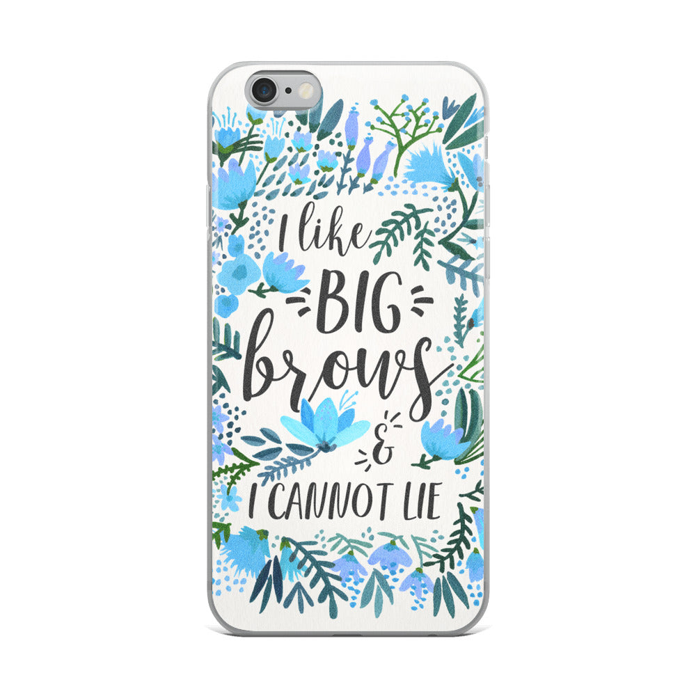 Big Brows – Blue Palette • iPhone Case