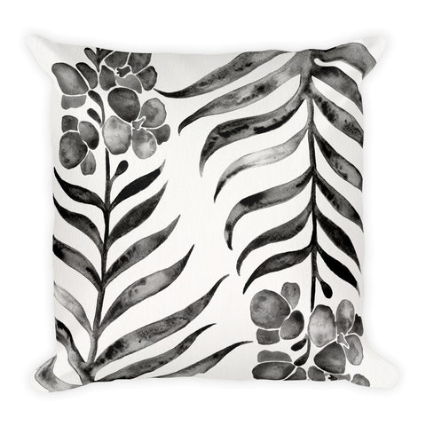 Black Orchid Bloom • Square Pillow