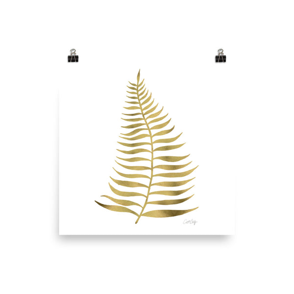 Palm Leaf – Gold Palette • Art Print