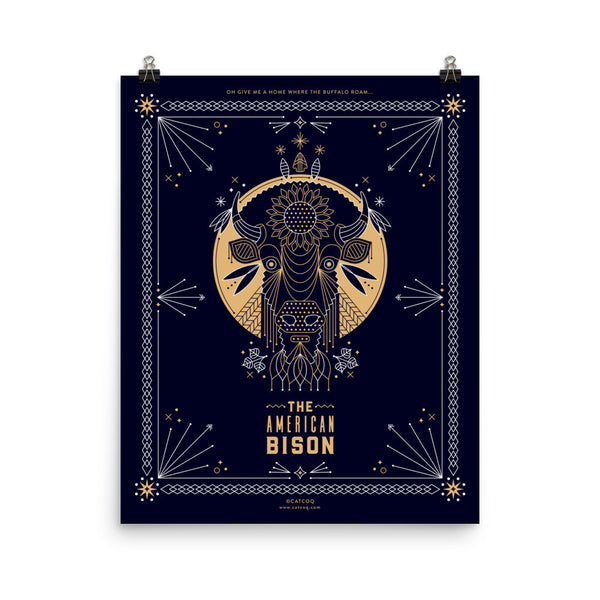 The American Bison • Art Print