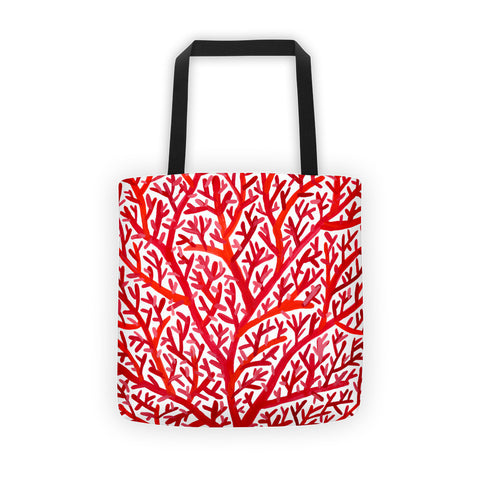 Fan Coral – Red Palette • Tote Bag