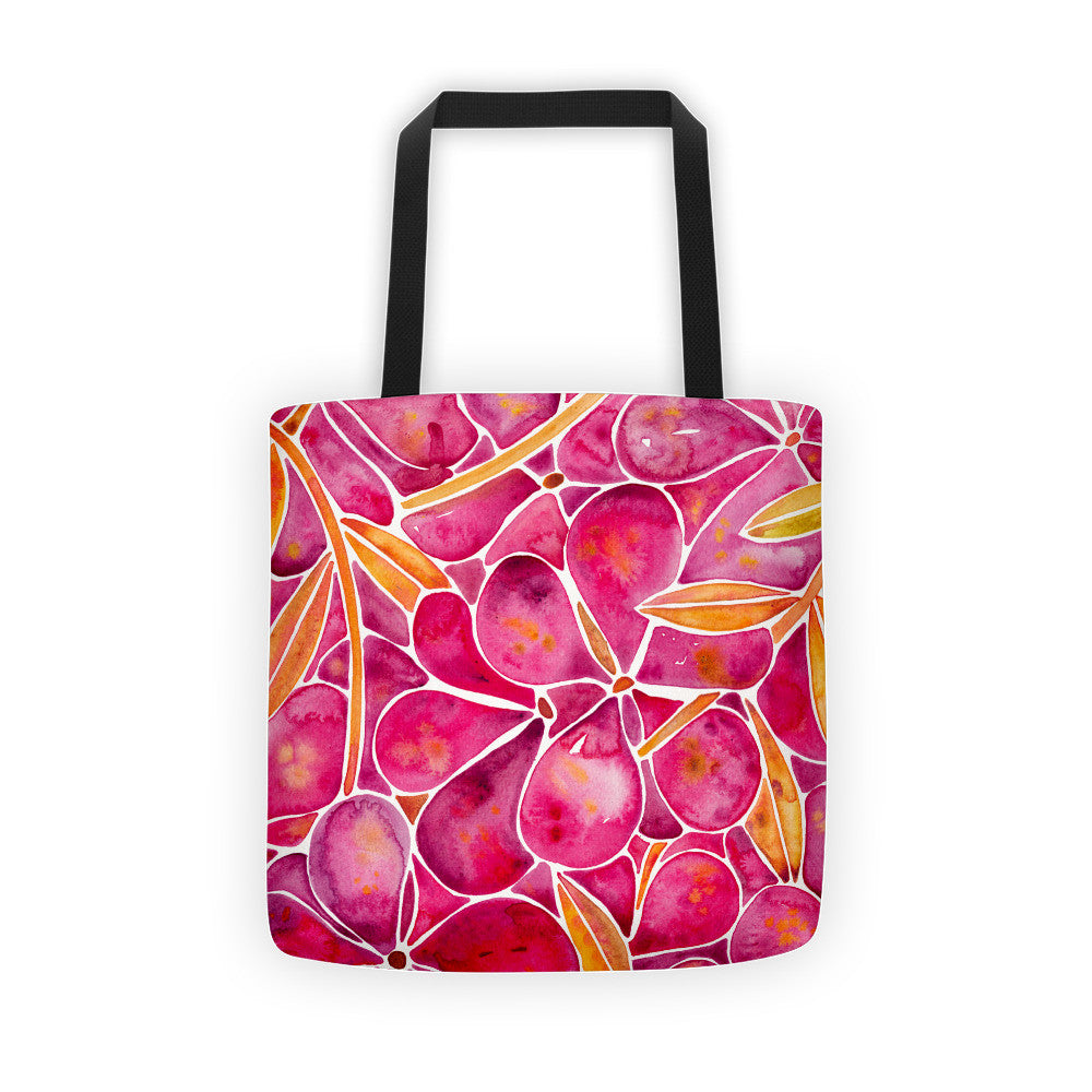 Orchid Wall – Fuschia & Yellow Palette  •  Tote Bag