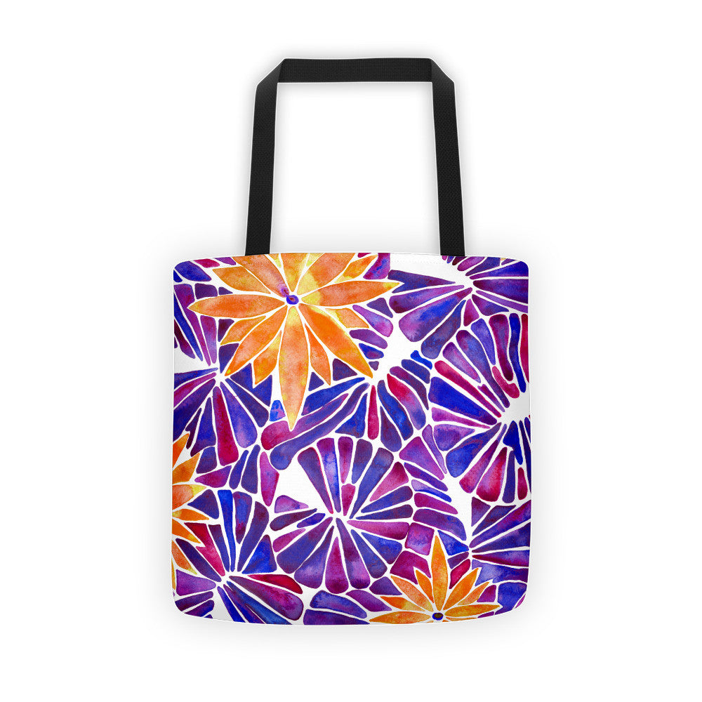 Water Lilies – Orange & Purple Palette  •  Tote Bag