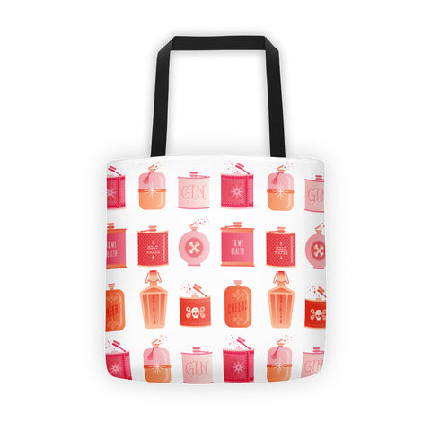 Flask Collection – Peachy Pink Palette • Tote Bag