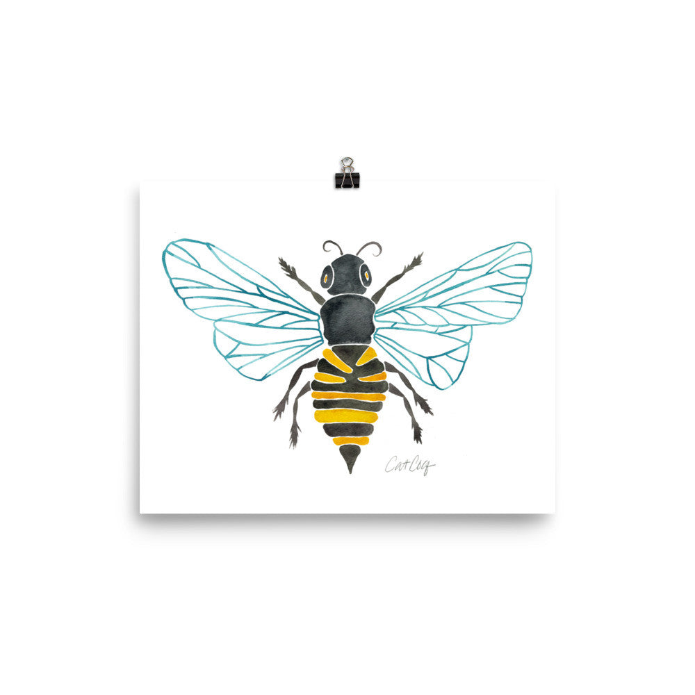 Honey Bee •  Art Print
