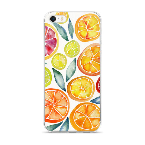 Citrus Slices  •  iPhone 5/5s/Se, 6/6s, 6/6s Plus Case