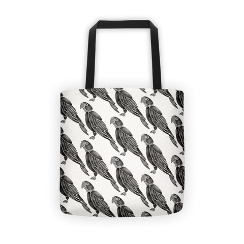 Perched Parrot – Black Palette • Tote Bag