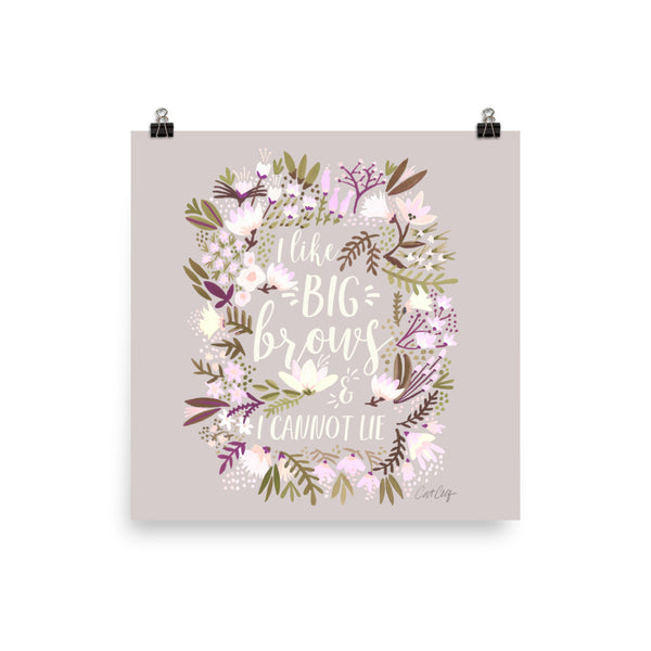 Big Brows – Spring Palette • Art Print