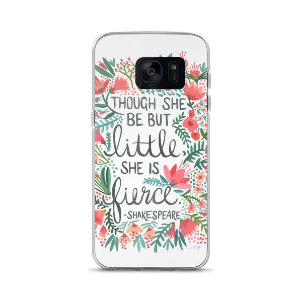 Little & Fierce – Black Calligraphy • Samsung Case