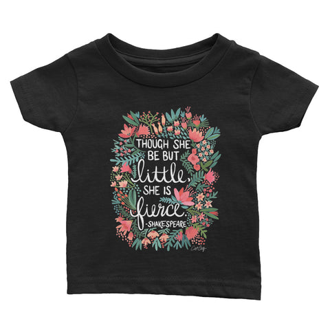 Little & Fierce – White Lettering • Infant Tee