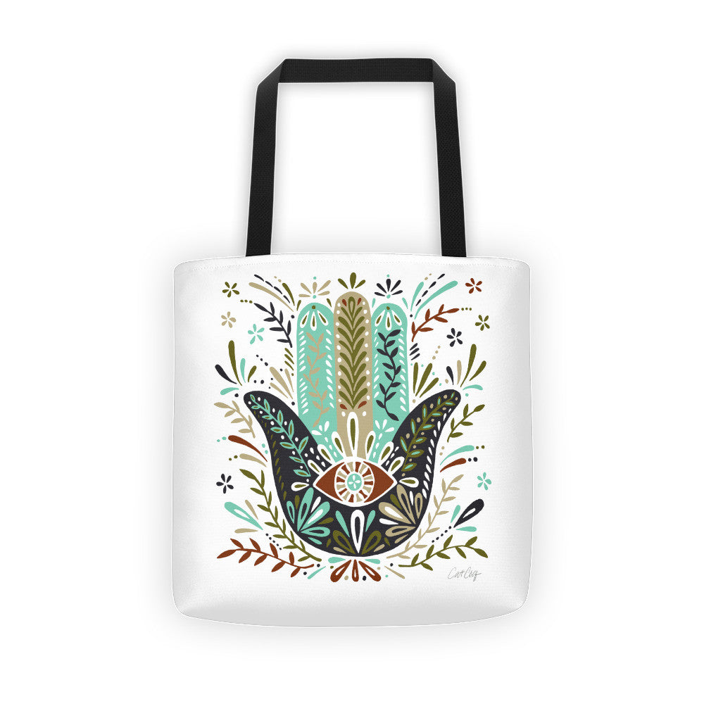 Hamsa Hand – Earth Palette  •  Tote Bag