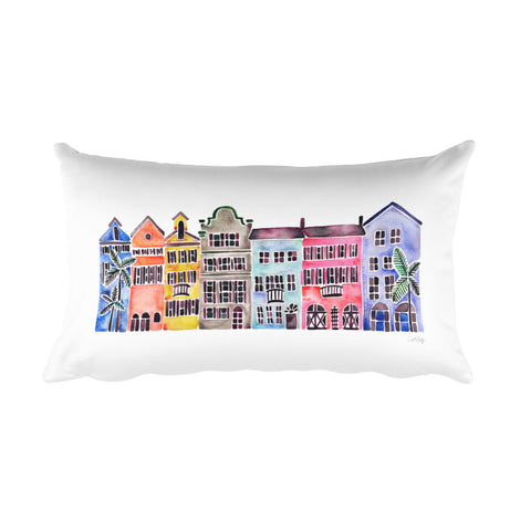 Rainbow Row • Rectangular Pillow